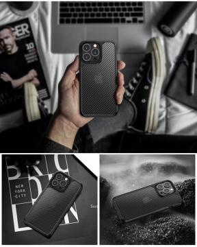 Ốp chống sốc iPhone Promax - LIKGUS vân carbon